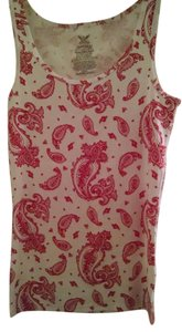 Faded Glory Top with Red Paisley Print