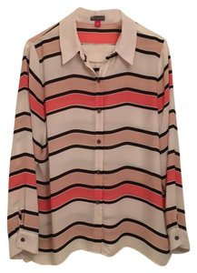 Vince Camuto Top Coral/White/Blk/Tan