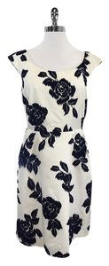 Kate Spade short dress White & Navy Velvet Floral on Tradesy