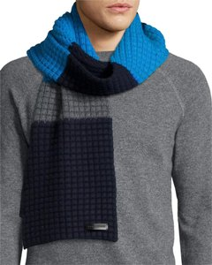 Burberry New Stripped Waffle Knit Scarf