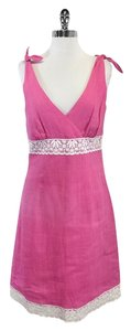 Lilly Pulitzer short dress Pink Linen Sleeveless on Tradesy