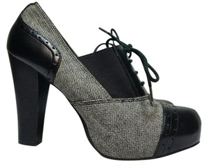 Apt. 9 Tweed Plarform Wingtip Mock Laceup BLACK Pumps