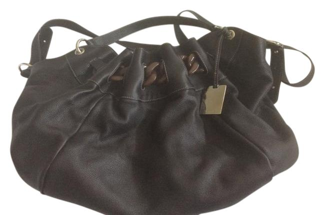 Furla L M/L Brown Embossed Leather Hobo Bag Furla L M/L Brown Embossed Leather Hobo Bag Image 1