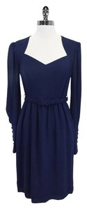 Escada short dress Navy Long Sleeve Sweetheart Neckline on Tradesy