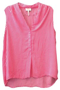 Laundry by Shelli Segal Top Pink, white, polka dot