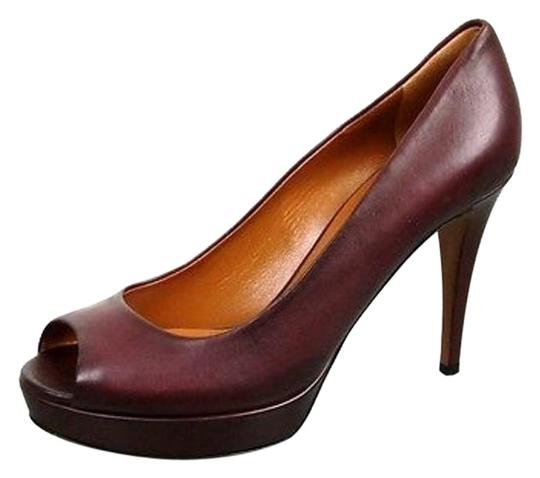 Gucci Betty Platform 297203 Plum Pumps Image 4
