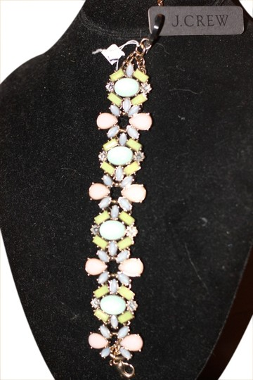 Preload https://img-static.tradesy.com/item/1722315/jcrew-pink-and-green-amazing-stone-work-new-with-tags-bracelet-0-0-540-540.jpg