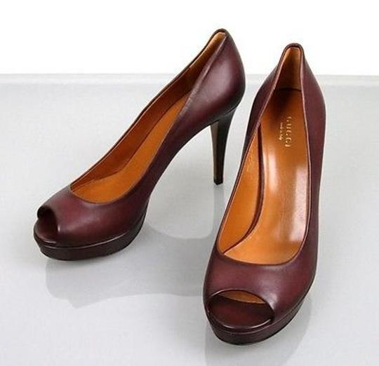 Gucci Betty Platform 297203 Plum Pumps Image 1