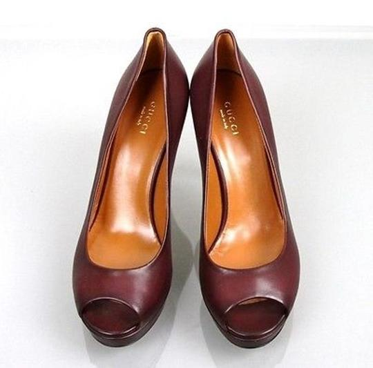 Gucci Betty Platform 297203 Plum Pumps Image 2