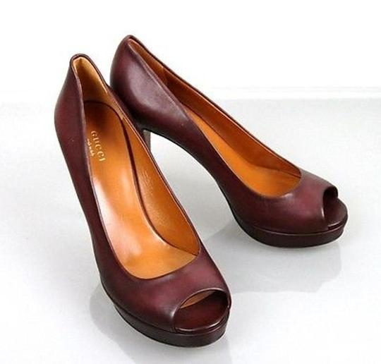 Gucci Betty Platform 297203 Plum Pumps Image 3