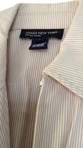 Jones New York white and tan Jacket