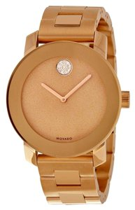 Movado Rose Gold Stainless Steel Designer Ladies Dress Watch