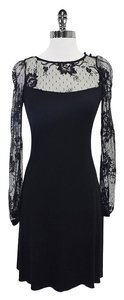 Maria Bianca Nero short dress Black Long Sleeve Lace on Tradesy