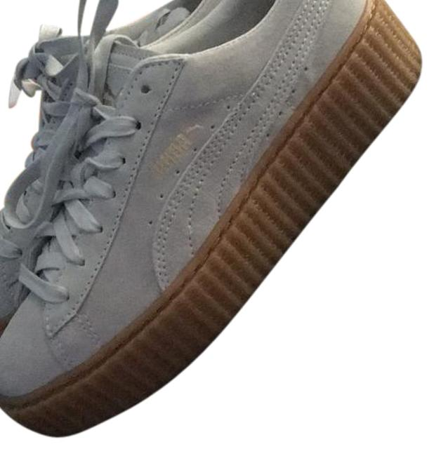 Item - Str Wht & Oatmeal Creepers Sneakers Size US 7.5 Regular (M, B)