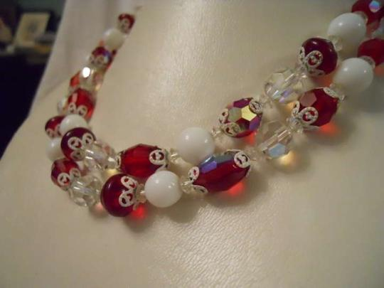 Other Vintage Vendome AB crystal necklace with 2 prs earrings