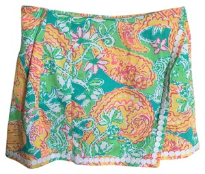Lilly Pulitzer Mini Skirt Orange, white, green, blue and pink