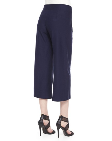 good Eileen Fisher Silk Crepe Midnight Capris - 44% Off Retail