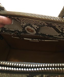 Prada Python Leather Shopping Tote in Grey gray cream pink Orchidea