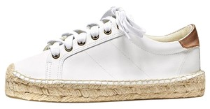 Soludos Espadrille Summer Leather white Flats