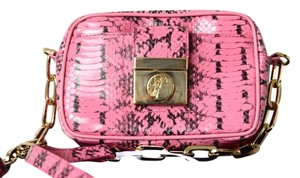 Versace Snake Embossed Cross Body Bag