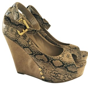 Chinese Laundry Snakeskin Wedges
