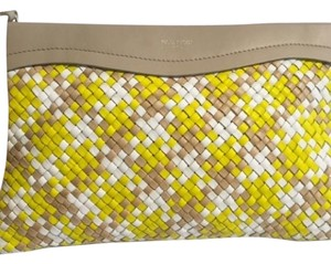 Nina Ricci Tan/yellow/white Clutch