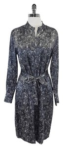 Brooks Brothers short dress Grey Silk Paisley Silk on Tradesy