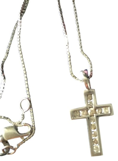 Preload https://item2.tradesy.com/images/white-gold-and-diamond-cross-necklace-1722521-0-0.jpg?width=440&height=440