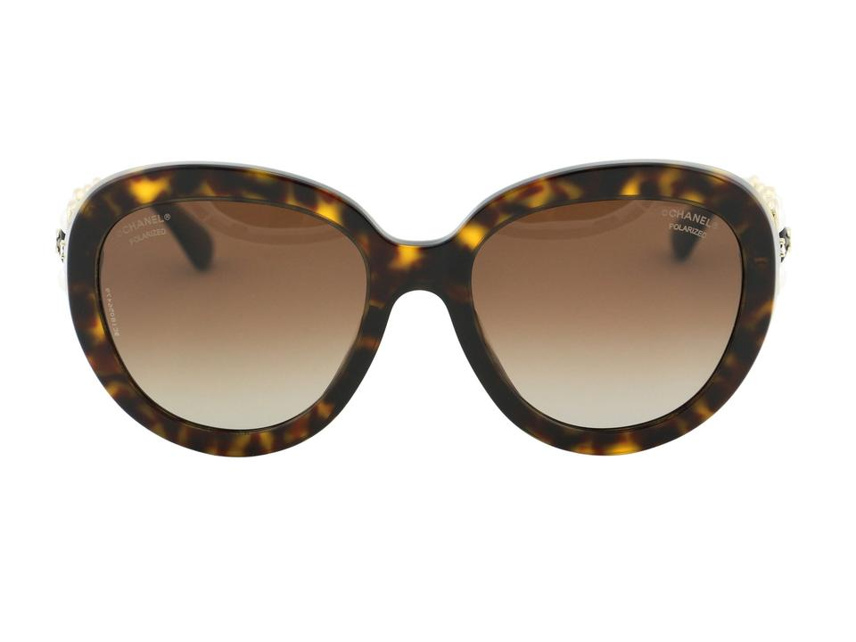 dc71c04a46e8 Chanel Brown Tortoise New Ch 5334 Hb Bijou Crystals Polarized Oval ...