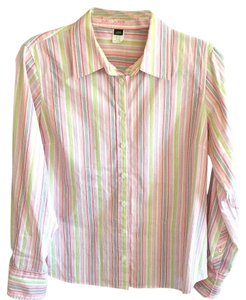 J.Crew Button Down Shirt Pink, green, black