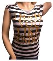 Other Novelty Melville Metallic Stripe Dark T Shirt White Black Gold