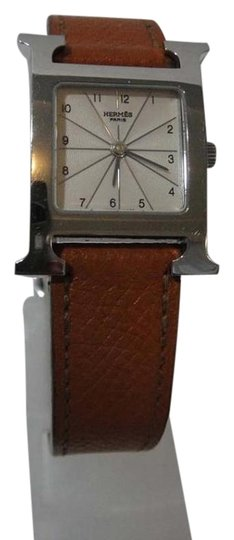 Preload https://img-static.tradesy.com/item/17225683/hermes-brown-hour-pm-leather-white-dial-watch-0-2-540-540.jpg