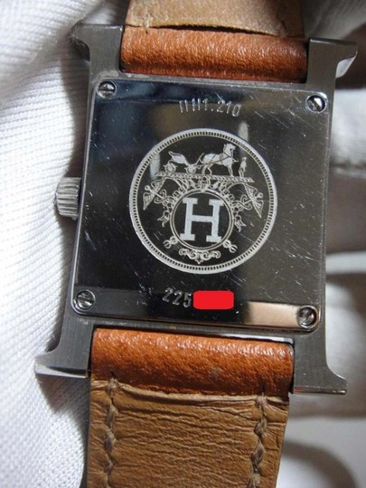 Hermès Hermes H Hour PM Brown Leather White Dial Watch Image 5