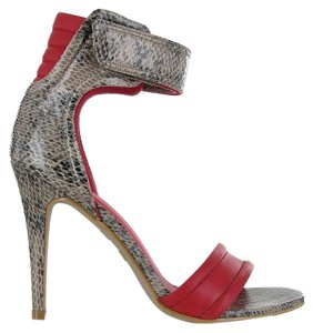 MIA Rio Ankle Strap Open Toe red multi Sandals