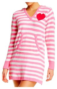 Betsey Johnson short dress Pink & Ivory, Red Heart on Tradesy