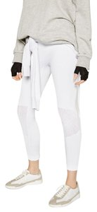 Zara NEW!!! Tags White Leggings Yoga Workout Gym Reinforced Knees L