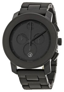 Movado Black Stainless Steel Black tr90 Resin Bracelet Designer MENS Sport Watch
