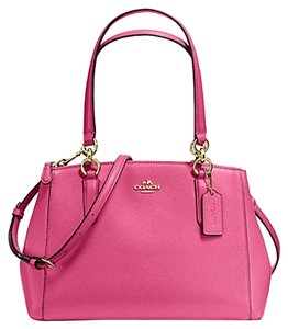 Coach Carryall Christie Tote Satchel in GOLD/ Dahlia