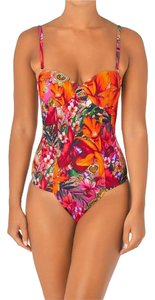 Ted Baker TED BAKER PAISLEY TOUCAN ONE PIECE SWIMSUIT 34 DD/E