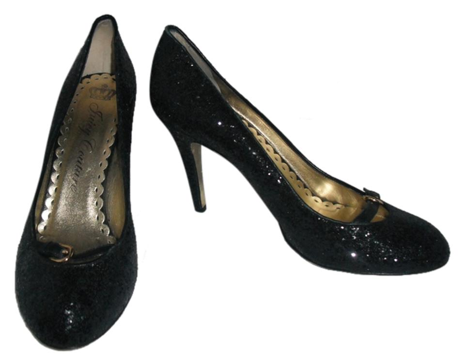8b6a274182dc Juicy Couture Black Glitter Sparkle Formal Shoes Size US 10 Regular ...