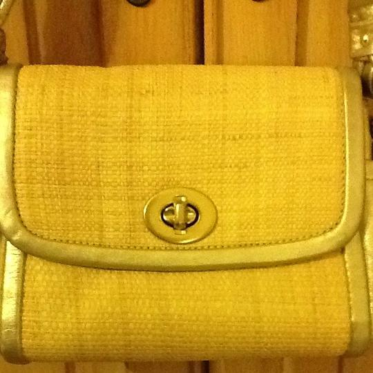 Coach Satchel in Gold And Neutral