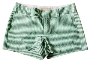 Banana Republic Mini/Short Shorts Green and white