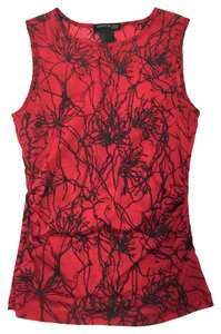 Kenneth Cole Top New York Red with Metallic Black