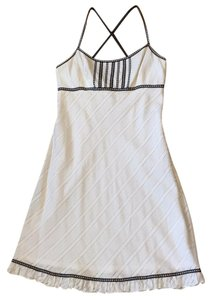 Maggy London short dress White and black Summer Gingham on Tradesy