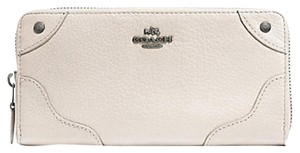 Coach Coach 53235 Mickie LEATHER zip around Accordion WALLET f52645