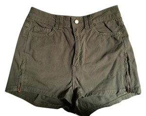 American Apparel High-waisted Mini/Short Shorts Khaki green