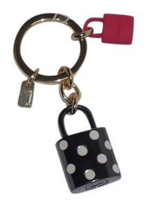 Coach Authentic Pink Locket Gold Tone Coach Key Chain