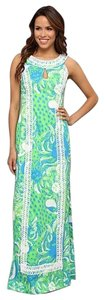 Limeade Roar of the Jungle Maxi Dress by Lilly Pulitzer Lily Maxi Long Slit