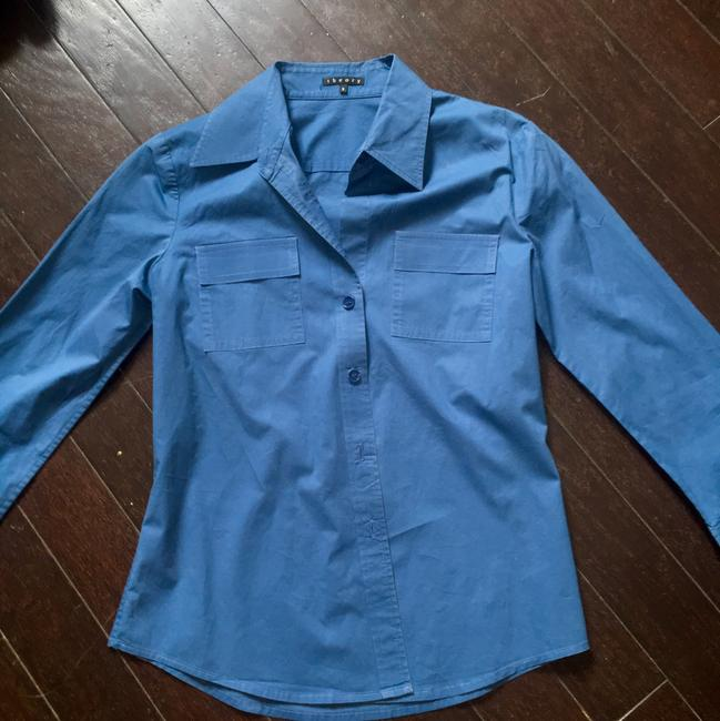 Theory Button Down Shirt Blue Image 1
