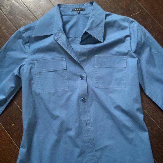 Theory Button Down Shirt Blue Image 2